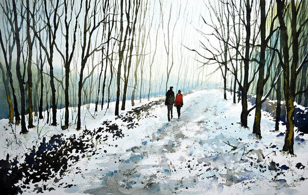 Wall Art - Painting - Tree Lined Stroll by Paul Dene Marlor