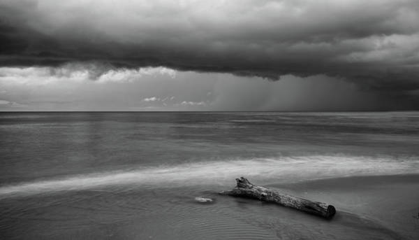 Wall Art - Photograph - Tree Log And Stormy Sky by Michalakis Ppalis