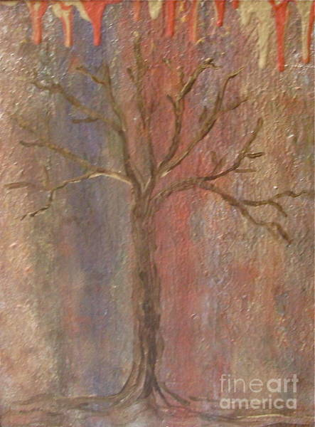 Painting - Tree - Metallic 1 by Jacqueline Athmann