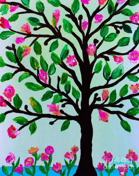Painting - Tree Of Essence by Pristine Cartera Turkus