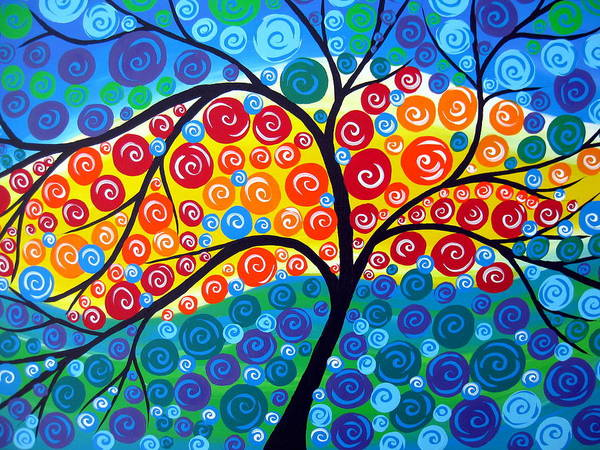 Framing Painting - Tree Of Life 8 by Cathy Jacobs