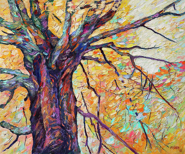 Wall Art - Painting - Tree Of Life And Wisdom   by Abraham  Fisher
