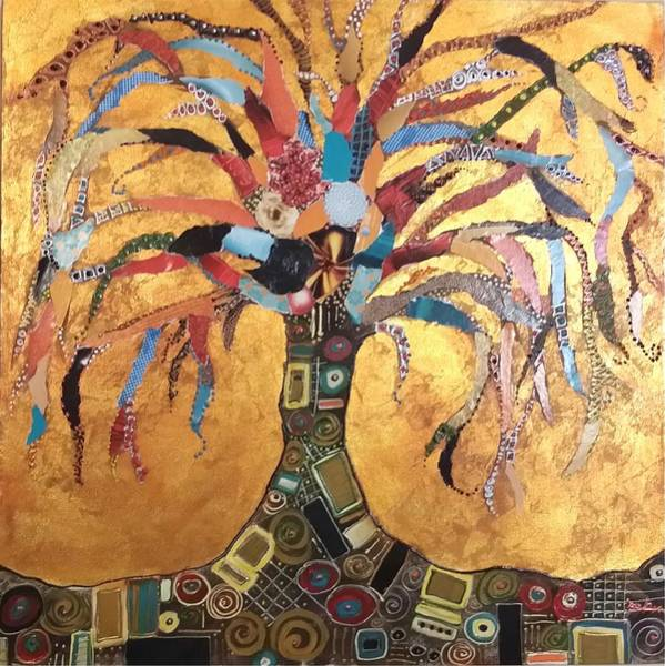 Blades Mixed Media - Tree Of Life by Debra Blades