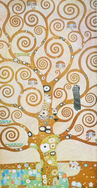 Painting - Tree Of Life Detail by Gustav Klimt