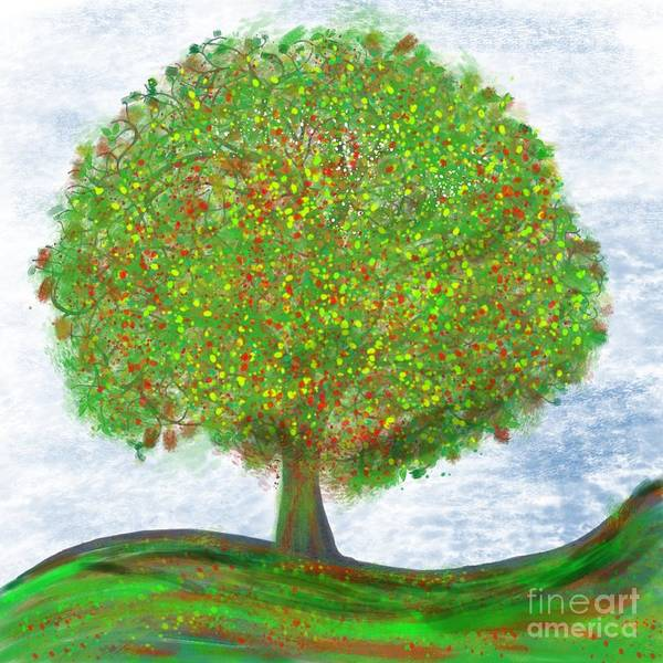 Lone Tree Painting - Tree Of Life by Edward Fielding