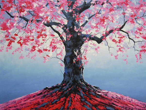 Pink Blossom Painting - Tree Of Life by Graham Gercken