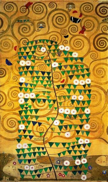 1918 Painting - Tree Of Life Stoclet Frieze by Gustav Klimt
