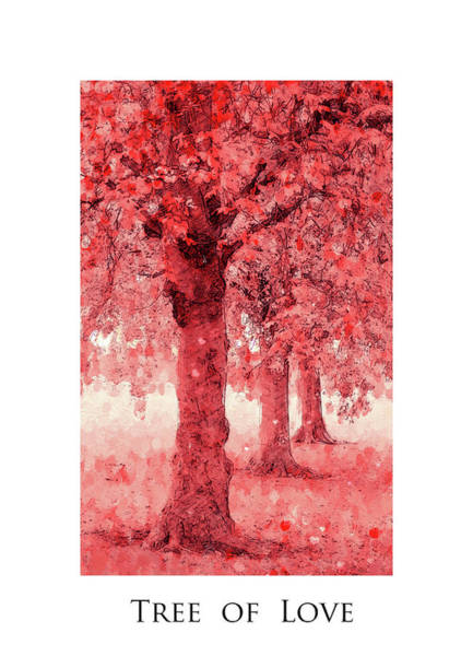 Wall Art - Painting - Tree Of Love by Steve K