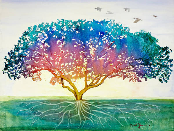 Painting - Da167 Tree Of Proposals By Daniel Adams by Daniel Adams