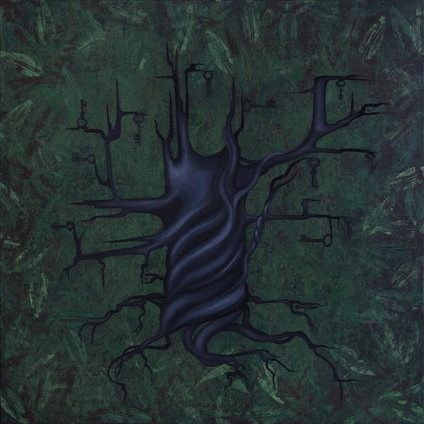 Dark Green Wall Art - Painting - Tree Of Secrets by Kelly Jade King