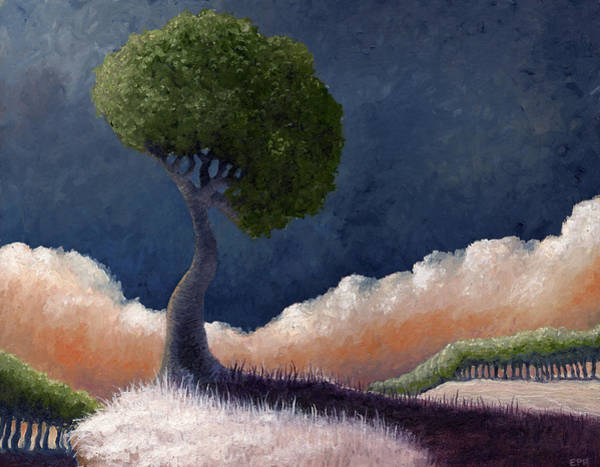 Long Shadow Painting - Tree Over The Big Black by Ethan Harris