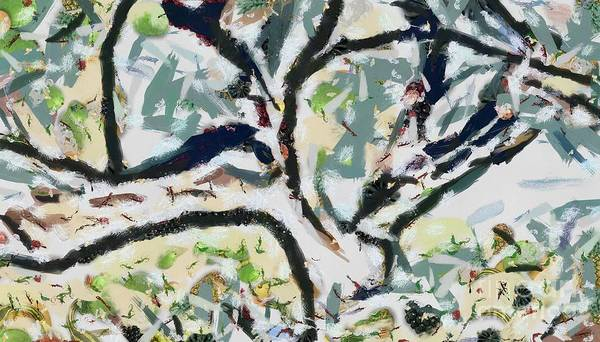 Painting - Tree Play Fragmented by Catherine Lott