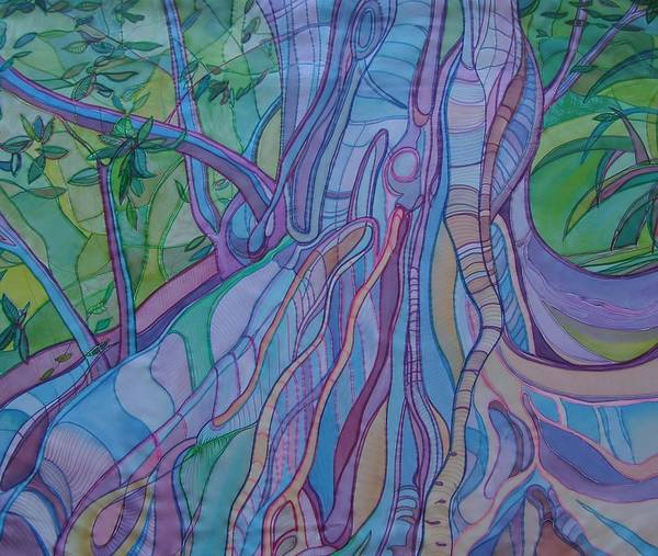 Entangled Painting - Tree Roots And Grasses by Sue Wilson