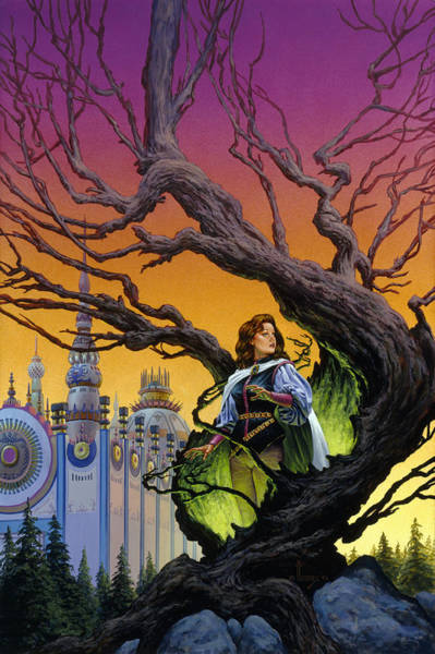 Summoning Wall Art - Painting - Tree Sorceress by Richard Hescox