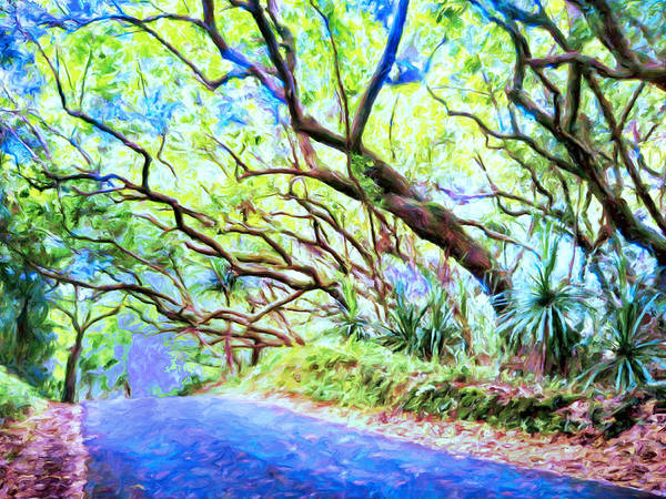 Painting - Tree Tunnel Near Isaac Hale Beach Park by Dominic Piperata