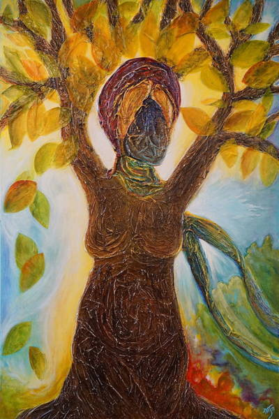 Womb Painting - Tree Woman by Theresa Marie Johnson