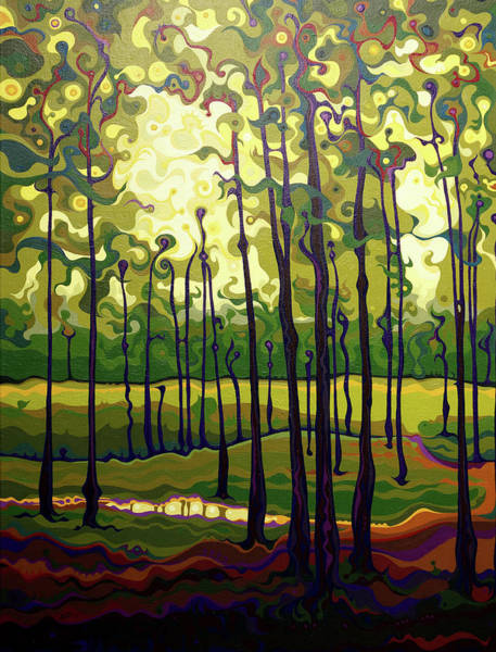 Painting - Treecentric Summer Glow by Amy Ferrari