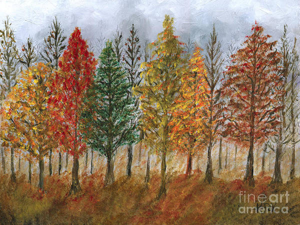 Painting - Treeline Painting by Kristen Fox