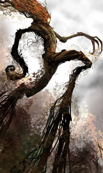 Wall Art - Digital Art - Treeman by Alex Ruiz