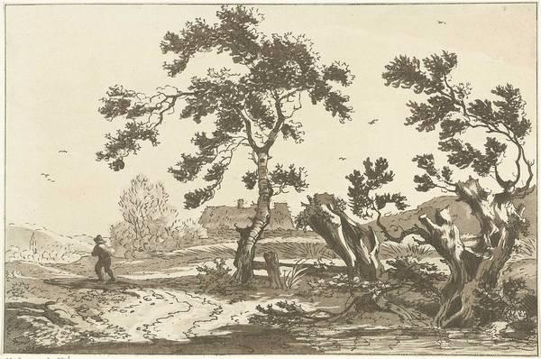 Meijer Painting - Trees Along A Road, Hendrik Meijer, 1789 - 1793 by Hendrik Meijer