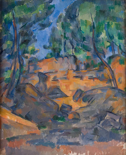 Ch Painting - Trees And Rocks, Near The Chateau Noir  1900  by Paul Cezanne