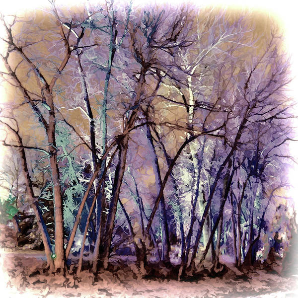 Digital Art - Trees Are Poems That The Earth Writes Upon The Sky by OLena Art Brand