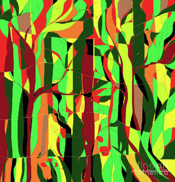 Digital Art - Trees In The Garden by James Fannin