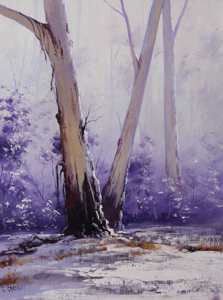 Wall Art - Painting - trees in winter Australia by Graham Gercken