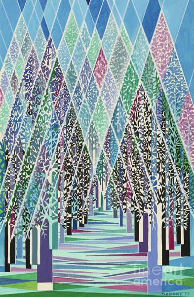 Modernism Painting - Trees by Manuel Bennett