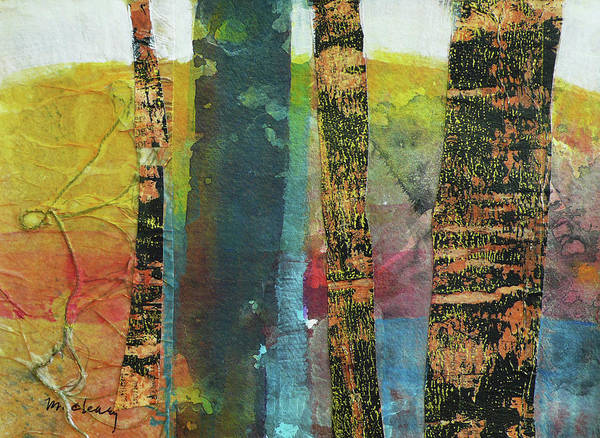 Abstract Acrylic Painting - Trees by Melody Cleary