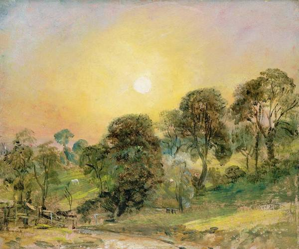 1837 Painting - Trees On Hampstead Heath At Sunset by John Constable