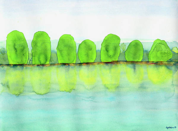 Clarity Painting - Trees Refecting On The Water by Heidi Capitaine