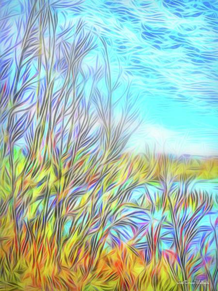 Digital Art - Trees Sweep Sky by Joel Bruce Wallach