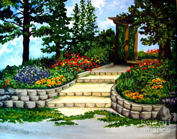 Painting - Trellace Gardens by Elizabeth Robinette Tyndall