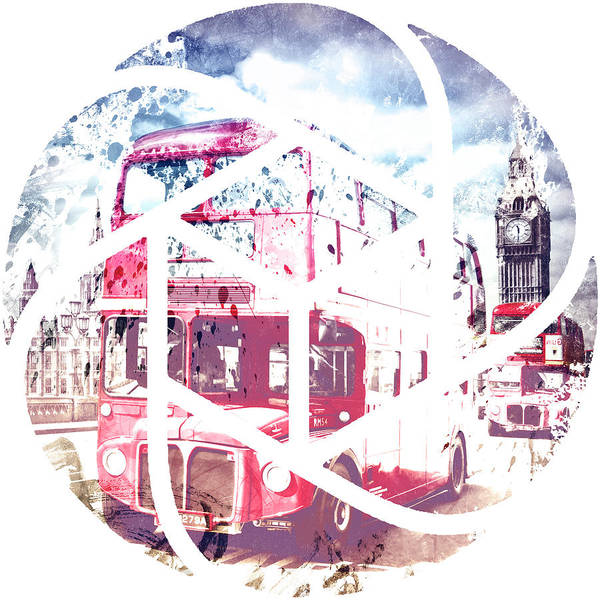 Trendy Design London Red Buses  Art Print