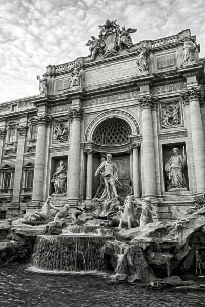 Trevi Fountain Digital Art - Trevi Emergence by Chris Hood