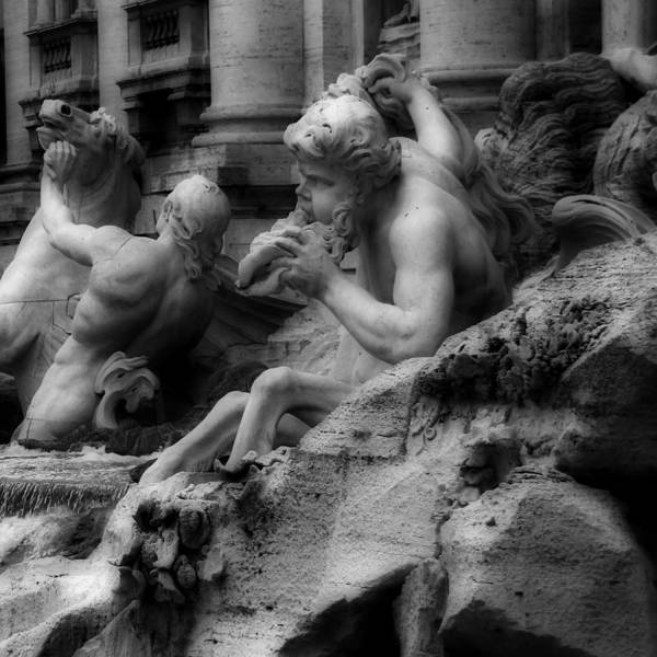 Photograph - Trevi Fountain Detail 2 by Andrew Fare