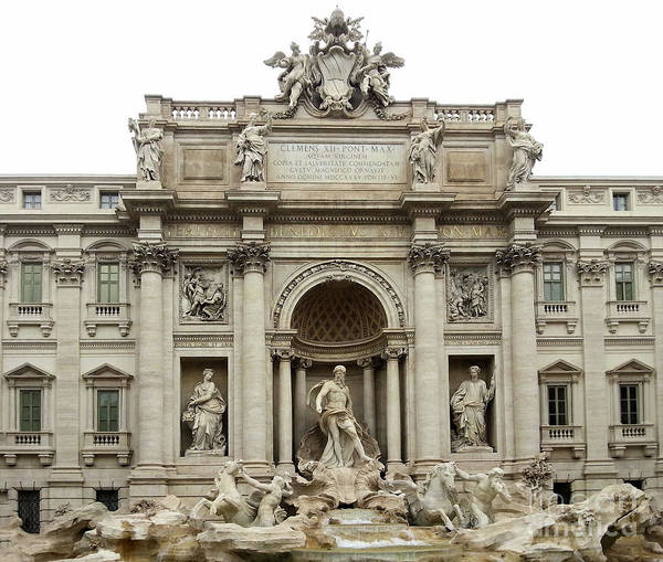 Photograph - Trevi Fountain In Rome Italy by Gregory Dyer