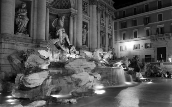 Photograph - Trevi Fountain Night 2 by Andrew Fare