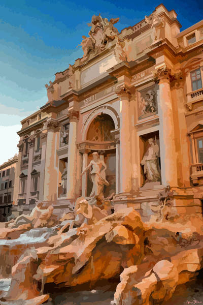 Trevi Fountain Digital Art - Trevi Fountain, Rome by Brian Shaw