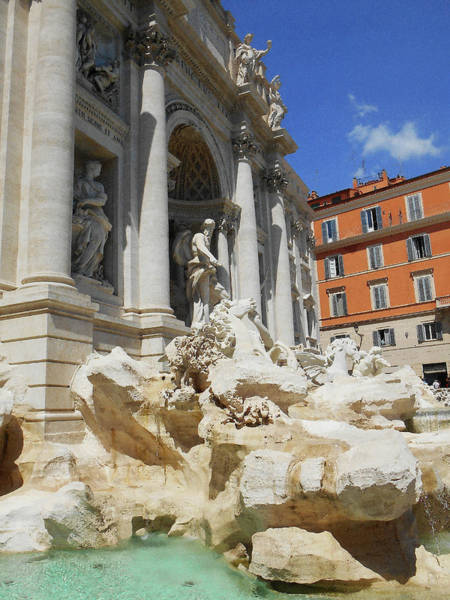 Wall Art - Digital Art - Trevi Fountain Rome Italy by Irina Sztukowski