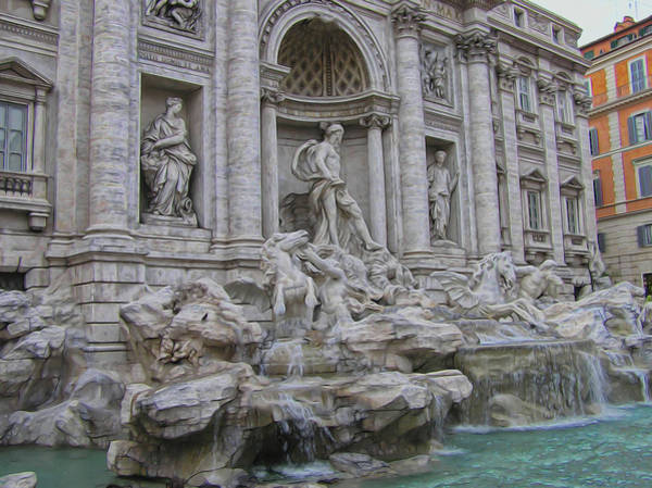 Trevi Fountain Digital Art - Trevi Fountain by Ron Racine