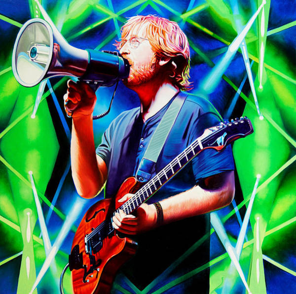 Wall Art - Painting - Trey Anastasio-fee In Green by Joshua Morton