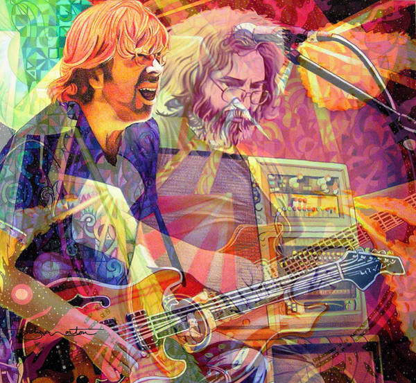 Legend Digital Art - Trey Channeling Cosmic Jerry by Joshua Morton