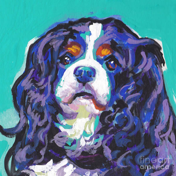 King Charles Spaniel Painting - Tri A Little Tenderness by Lea S