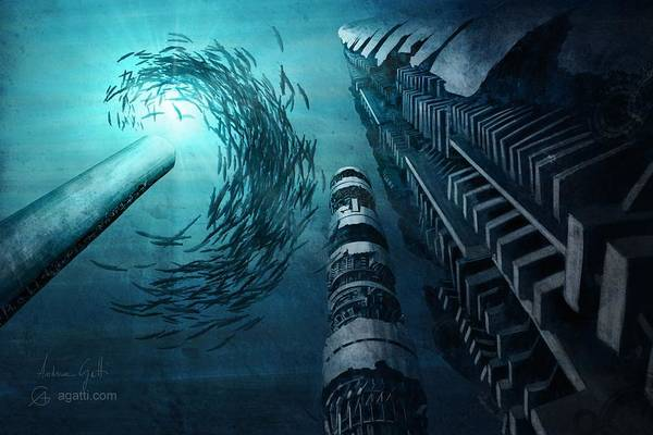 Ocean Scape Digital Art - Triade by Andrea Gatti