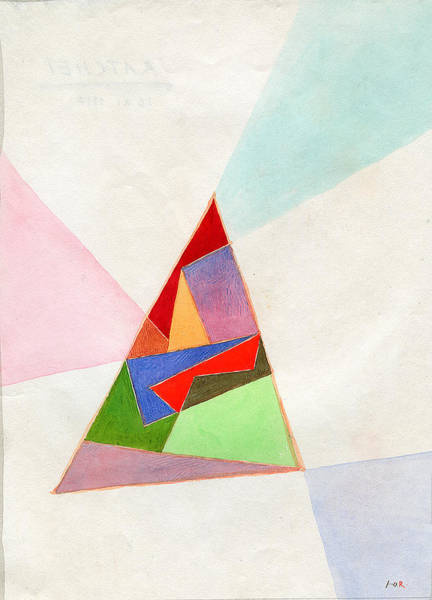 Wall Art - Painting - Triangle. 1997 by Yuri Yudaev-Racei