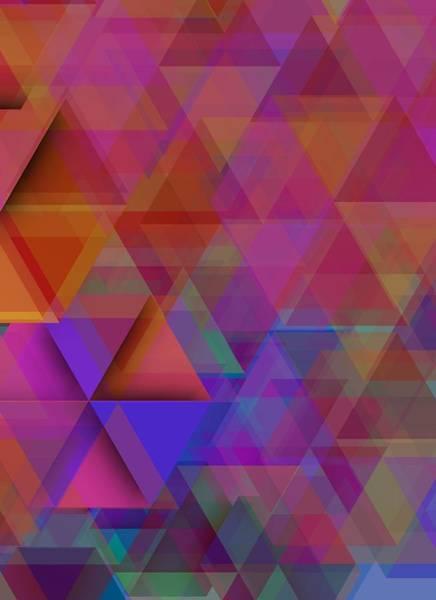 Digital Art - Triangle In Violet Mist by Alberto RuiZ