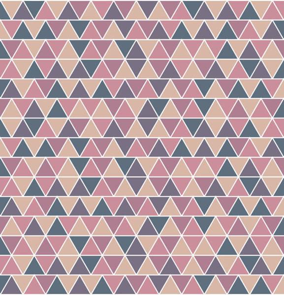 Triangle Mixed Media - Triangular Geometric Pattern - Warm Colors 01 by Studio Grafiikka