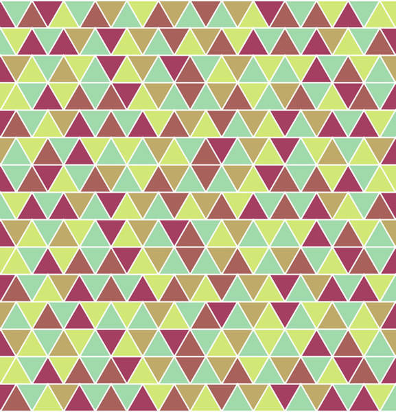 Triangle Mixed Media - Triangular Geometric Pattern - Warm Colors 03 by Studio Grafiikka